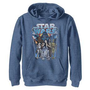 Boys 8-20 Star Wars Classic Comic Art Group Shot Darth Vader Graphic Hoodie