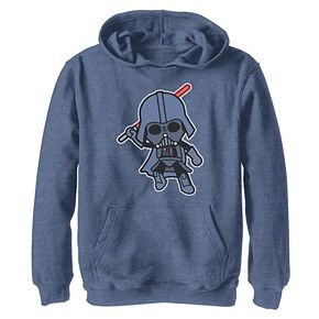 Boys 8-20 Star Wars Darth Vader Cute Cartoon Lightsaber Leap Graphic Hoodie