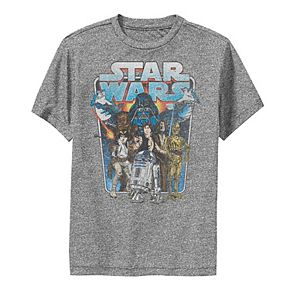 Boys 8-20 Star Wars Classic Comic Art Group Shot Darth Vader Graphic Performance Tee