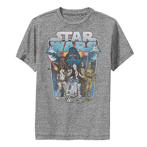 Boys 8-20 Star Wars Classic Comic Art Group Shot Darth Vader Graphic Performance Tee