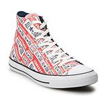 Men's Converse Chuck Taylor All Star License Plate Logo High Top Sneakers