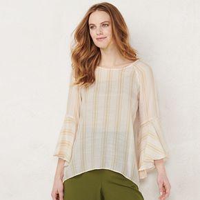 Women's LC Lauren Conrad Flutter-Sleeve Blouse