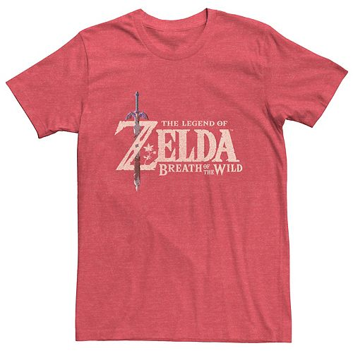 Men's Nintendo Zelda Breath Of The Wild Official Game Logo Tee