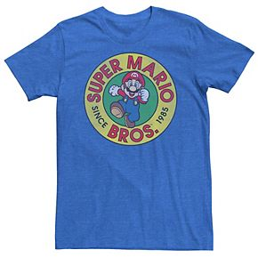 Men's Nintendo Super Mario Bros Since 1985 Badge Tee