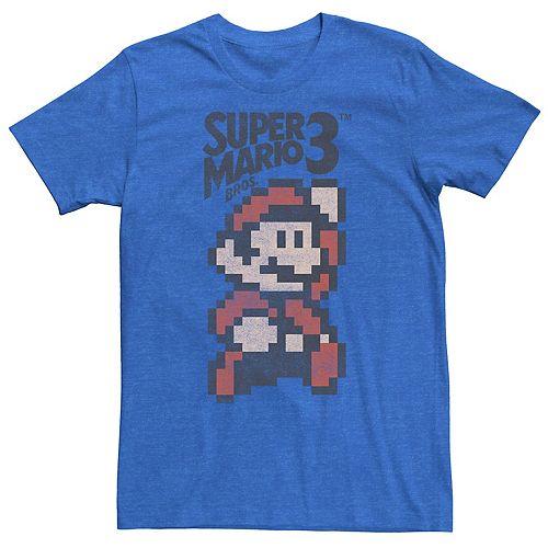 Men's Nintendo Super Mario Bros 3 Pixel Mario Retro Jump Tee