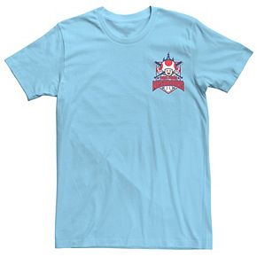 Men's Nintendo Super Mario Baseball Toad Town Mushrooms Tee