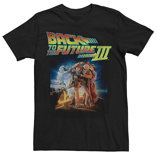 Men's Back To The Future Three Group Pose With Car Graphic Tee