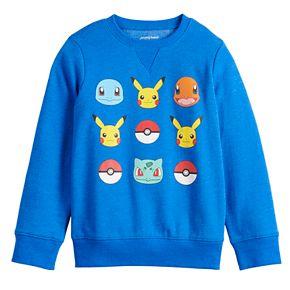 Boys 4-12 Jumping Beans® Long-Sleeve Crew Pokemon Softest Fleece