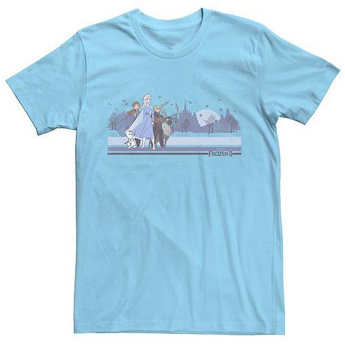 Men's Disney Frozen Group Blue Tee