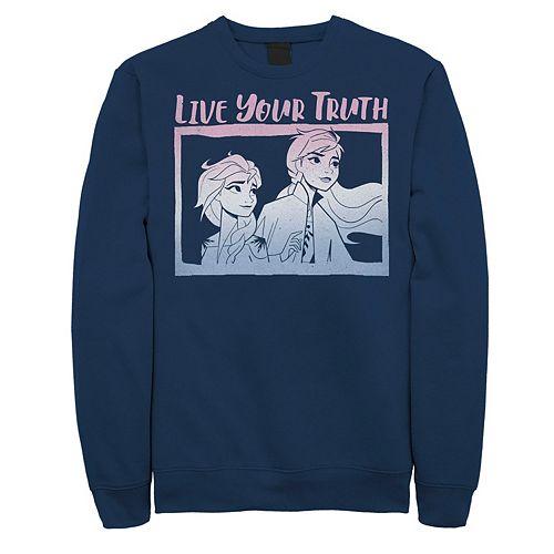 Men's Frozen 2 Elsa Neon Gradient Sweatshirt