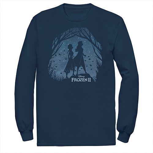 Men's Frozen 2 Anna & Elsa Forest Silhouette Logo Tee