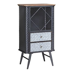 Forester Collection Bookcase with Door and Drawers
