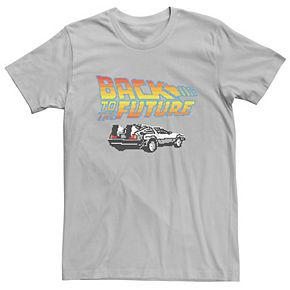 Men's Back To The Future 8-Bit Delorean Logo Tee