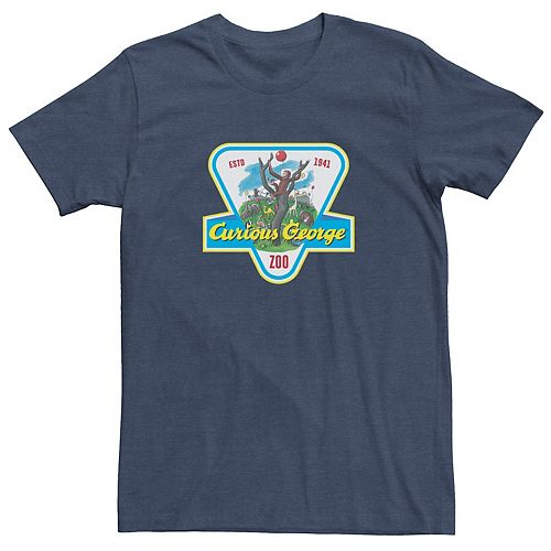 Men's Curious George ESTD 1941 Zoo Badge Tee