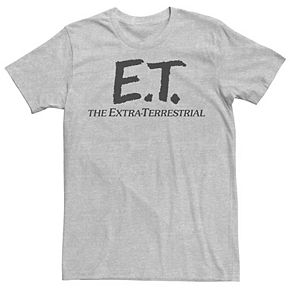 Men's E.T. Simple Extra Terrestrial Movie Logo Tee