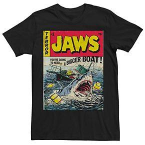 Men's Jaws Quint's Vintage Comic Cover Tee