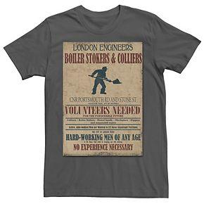 Men's Mortal Engines Boiler Room Volunteers Needed Tee