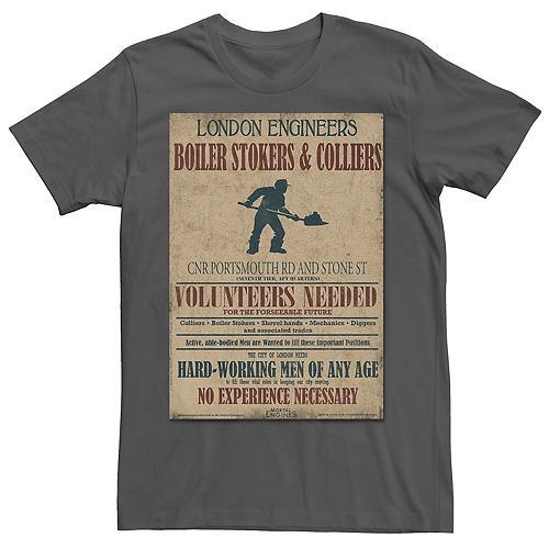 Men's Mortal Engines Boiler Room Volunteers Needed Tee