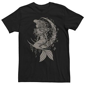 Men's Disney Little Mermaid Ariel Tattoo Style Tee