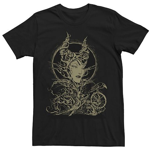 Men's Disney Sleeping Beauty Maleficent Crow Branches Tee