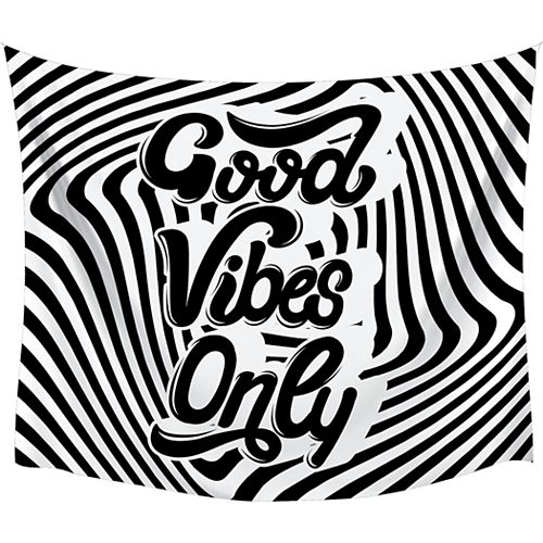 """RoomMates """"Good Vibes Only"""" Swirl Large Tapestry"""