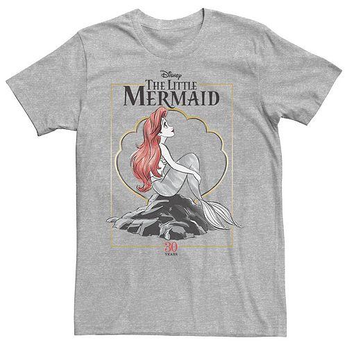 Disney's The Little Mermaid Men's 30th Anniversary Logo Graphic Tee