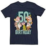 Disney's Snow White Men's Dwarfs Group Shot 50th Birthday Graphic Tee