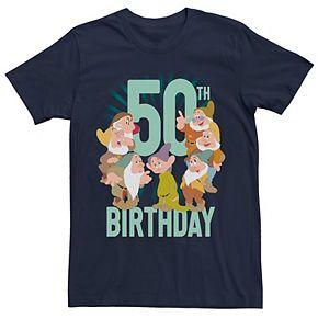Disney's Snow White Men's Dwarfs Group Shot 50th Birthday Tee