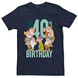 Disney's Snow White Men's Dwarfs Group Shot 40th Birthday Graphic Tee