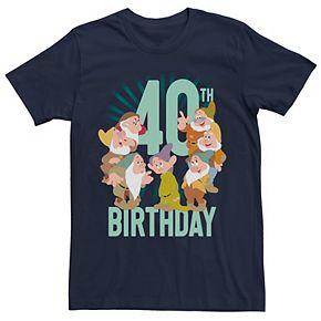 Disney's Snow White Men's Dwarfs Group Shot 40th Birthday Tee