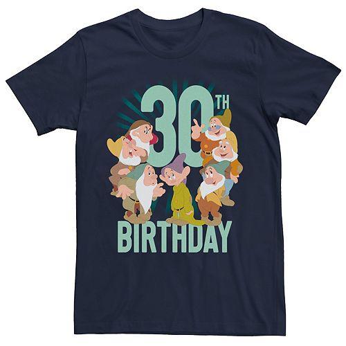 Men's Disney Snow White Dwarfs Group Shot 30th Birthday Tee