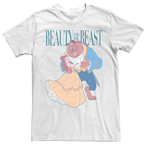 Men's Disney Beauty And The Beast Vintage Logo Tee