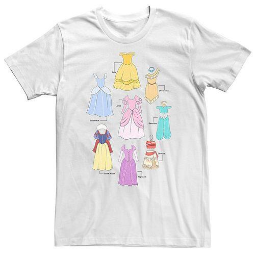 Men's Disney Princess Dresses Collage tee