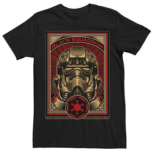 Men's Star Wars Black Squadron Poster Graphic Tee