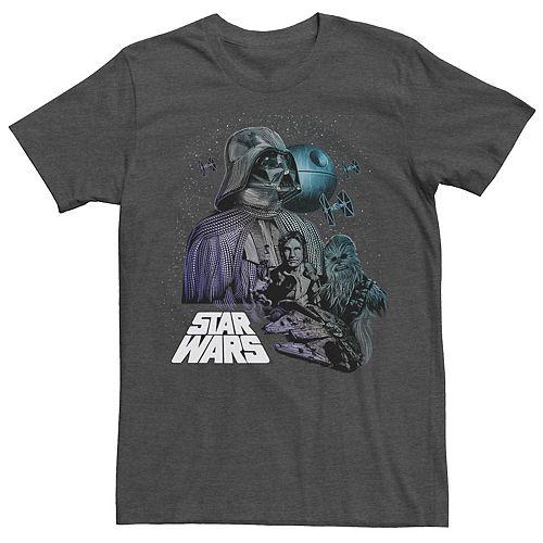 Men's Star Wars Poster Dot Art Fill Graphic Tee