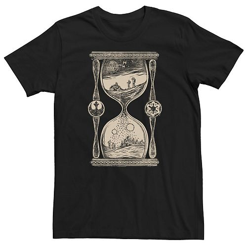 Men's Star Wars Sketched Hourglass Abstract Poster Graphic Tee