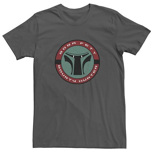 Men's Star Wars Boba Fett Bounty Hunter Circle Logo Graphic Tee