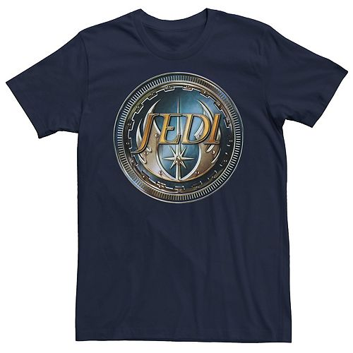 Men's Star Wars Jedi Steel Emblem Badge Graphic Tee