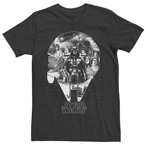 Men's Star Wars Millennium Falcon Group Collage Graphic Tee