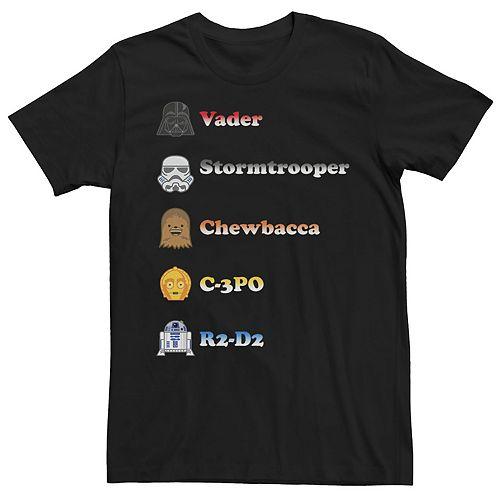 Men's Star Wars Character Emoji Graphic Tee