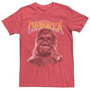 Men's Star Wars Chewbacca Retro Text Graphic Tee