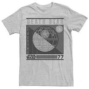 Men's Star Wars Death Star Line Art Poster Graphic Tee