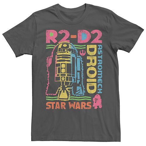 Men's Star Wars Distressed Vintage Astromech Droid R2-D2 Graphic Tee