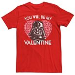 Men's Star Wars You Will Be My Valentine Darth Vader Graphic Tee