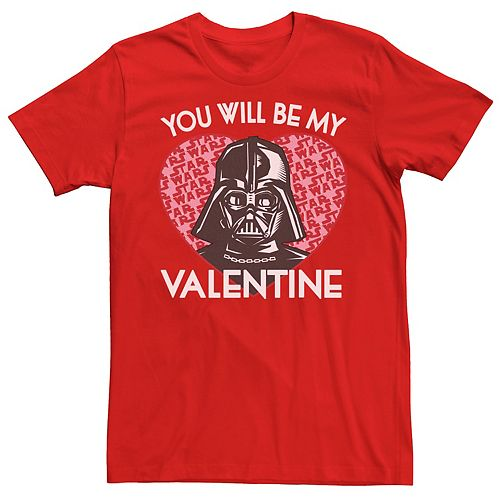 Men's Star Wars You Will Be My Valentine Darth Vader Graphic Tee