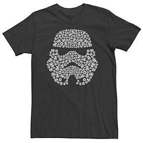 Men's Star Wars Trooper Silhouette Helmet Fill Graphic Tee