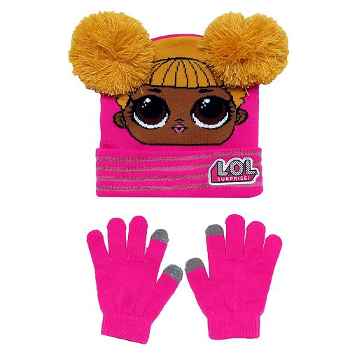 Girl's LOL Surprise! Cuff Beanie & Texting Glove Set