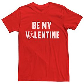 Men's Star Trek Be My Valentine Delta Tee