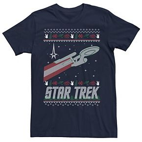 Men's Star Trek Original Series Holiday Enterprise Tee
