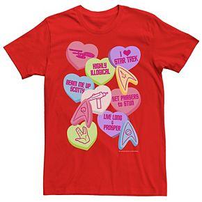 Men's Star Trek Candy Hearts Valentine's Day Tee